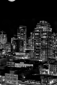 Black And White Vancouver City 4k