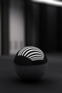 640x960 Black Ball With White Bands