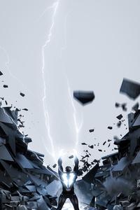 2160x3840 Black Bolt Art