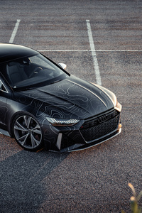 1080x2280 Black Box Richter Audi RS 7 Sportback 2020 8k