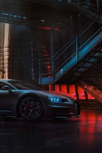 1440x2960 Black Bugatti Chiron 2020 4k