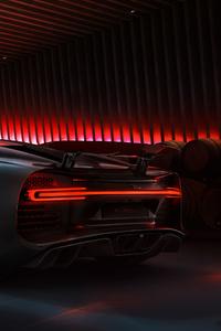 480x800 Black Bugatti Chiron 2020 Rear