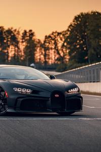 Black Bugatti Chiron Pur Sport 5k