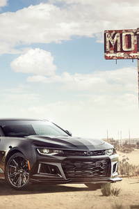 320x480 Black Camaro Chrome 4k