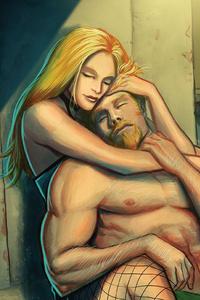 1125x2436 Black Canary Green Arrow Artwork