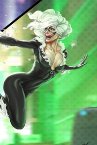 Black Cat And Spiderman Art