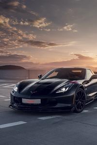 240x400 Black Corvette