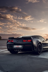 Black Corvette Rear