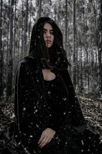 640x960 Black Dark Magic Eyes 4k