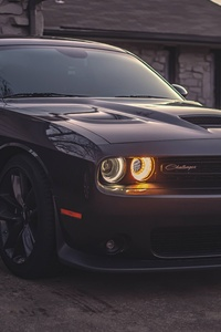 Black Dodge Challenger 5k