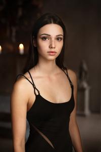 1440x2560 Black Dress Girl Closeup Portrait 4k