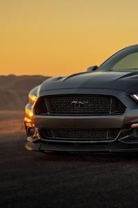 1440x2560 Black Ford Mustang 2019 5k