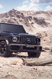 720x1280 Black G Wagon 4k 2020