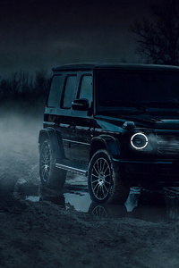 480x800 Black G Wagon 4k