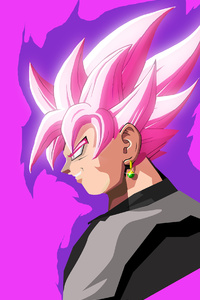 1242x2688 Black Goku Dragon Ball Super 4k Anime