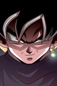 750x1334 Black Goku Dragon Ball Super 8k