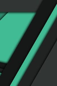 1440x2960 Black Green Material Design