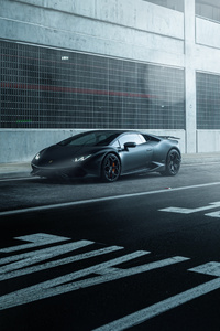 Black Lamborghini Huracan Supercar Vehicle