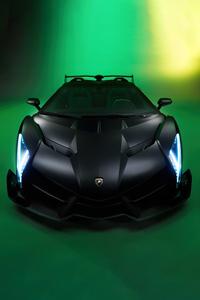 800x1280 Black Lamborghini Veneno 5k