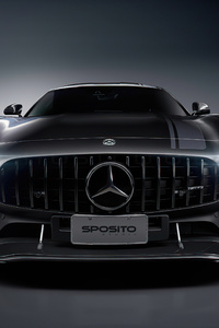 640x1136 Black Mercedes Amg Front