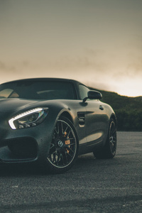 1125x2436 Black Mercedes Benz Amg GT 5k