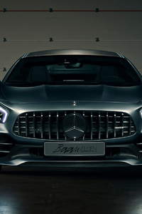 Black Mercedes Benz Amg GT HD