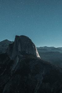 1080x1920 Black Mountain Under Blue Sky 5k