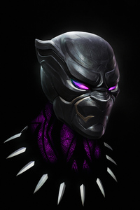 360x640 Black Panther 4k Closeup Art