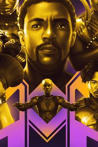 1080x2280 Black Panther 8k Artwork