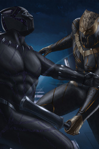 Black Panther And Erik Killmonger Artwork