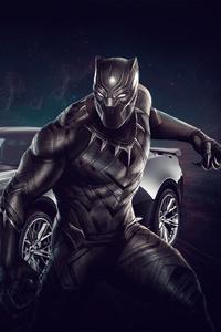 Black Panther Chevrolet Camaro 4k