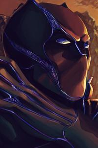 1080x2280 Black Panther Closeup Art