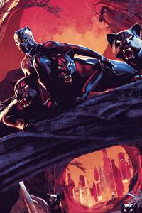 1440x2560 Black Panther Comic Poster 4k