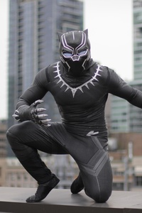 320x480 Black Panther Cosplay