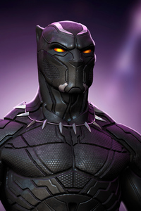 Black Panther Glowing Eyes 4k