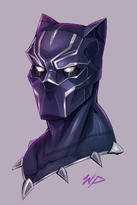 Black Panther Headshot Minimalism