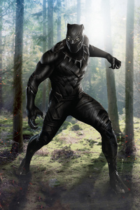 Black Panther In Jungle