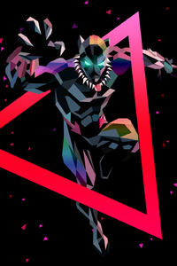 Black Panther Low Poly Art