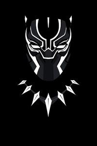 480x800 Black Panther Minimal 4k
