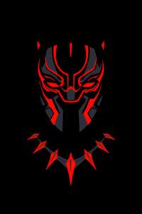 1242x2688 Black Panther Minimal Dark 5k