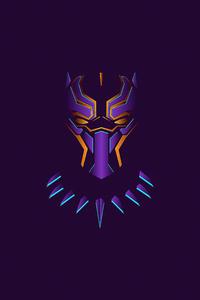 320x568 Black Panther Minimal Illustration 4k