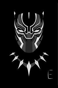 1242x2688 Black Panther Minimalism 4k