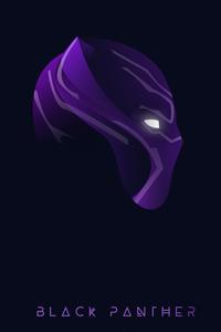 Black Panther Neon Face Art