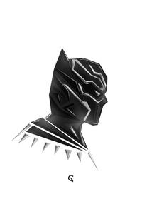 320x568 Black Panther Pophead Minimal 5k