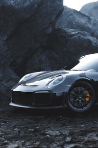 320x480 Black Porsche