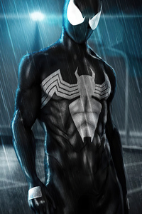 1280x2120 Black Spider Man 2020