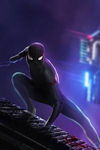 Black Spider Man Suit 4k
