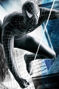 Black Spiderman Superhero