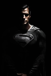 800x1280 Black Suit Superman 4k 2020