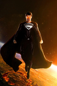 360x640 Black Suit Superman Snyder Cut 5k
